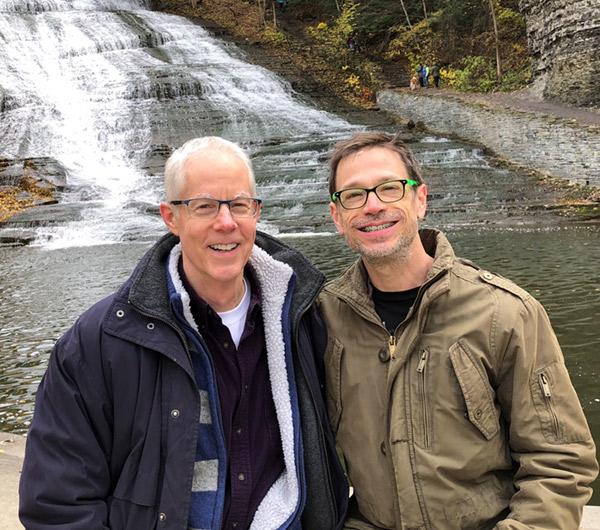 Pat & Doug at waterfall