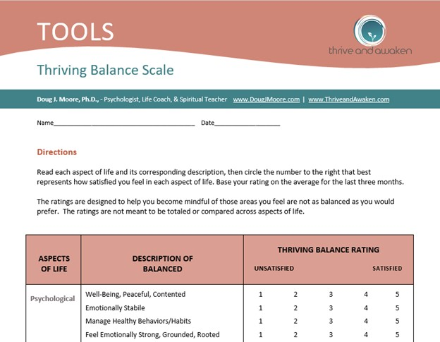 Pic of top portion of the Thriving Balance Scale