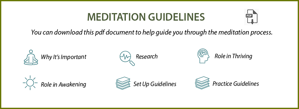 Meditation Guidelines