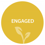 Engaged in yellow circle