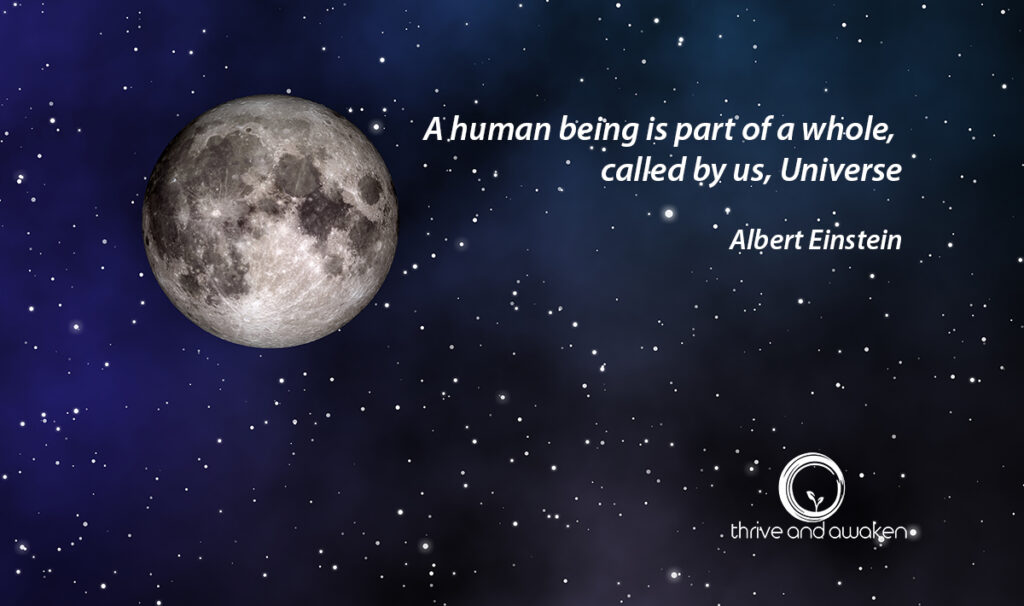 Inspirational quote - A human being is part of a whole, called by us, Universe by Albert Einstein